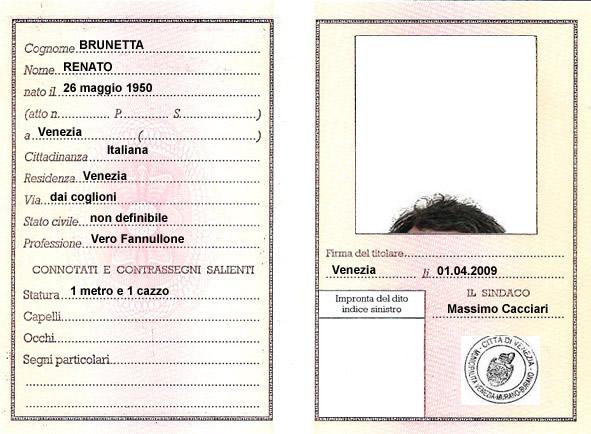 Carta di Identità di Brunetta