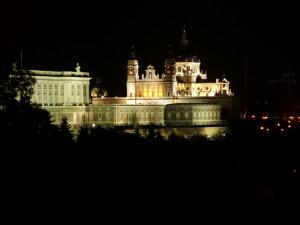 Palazzo Reale di Madrid Nottturno