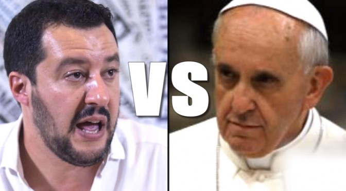 Salvini vs Papa