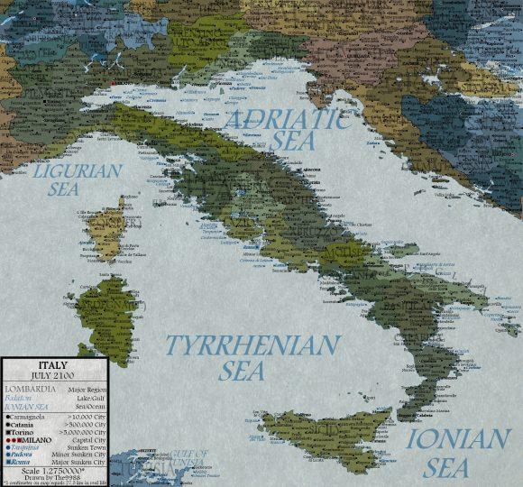 Italia Sommersa Scioglimento Ghiacciai