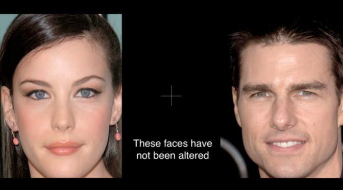Illusione ottica che modifica i volti osservati trasformando le persone in mostri