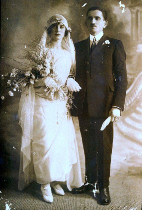 I nonni Gigetta e Giovanni il giorno del loro matrimonio